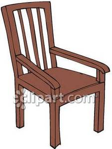 Back Wooden Chair.