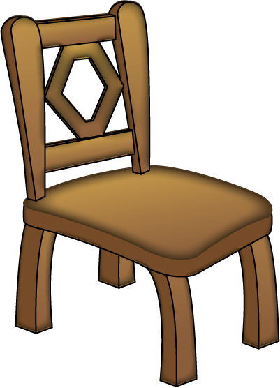 Wooden chair clipart.