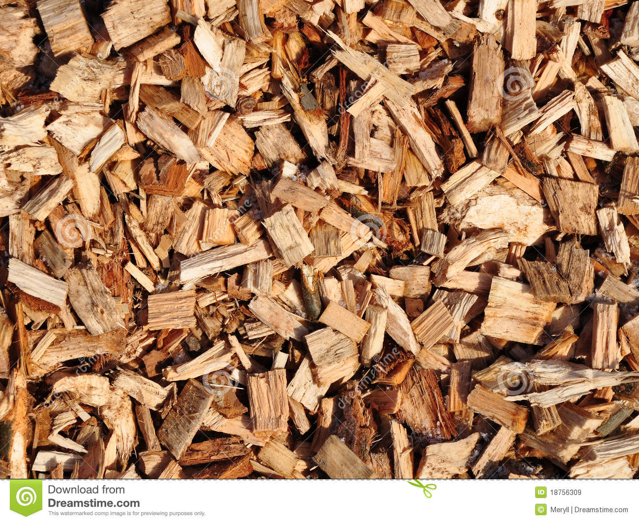 Wood Chips Royalty Free Stock Images.