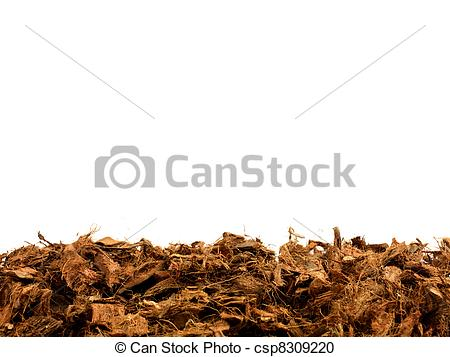 Stock Photography of Mulch.