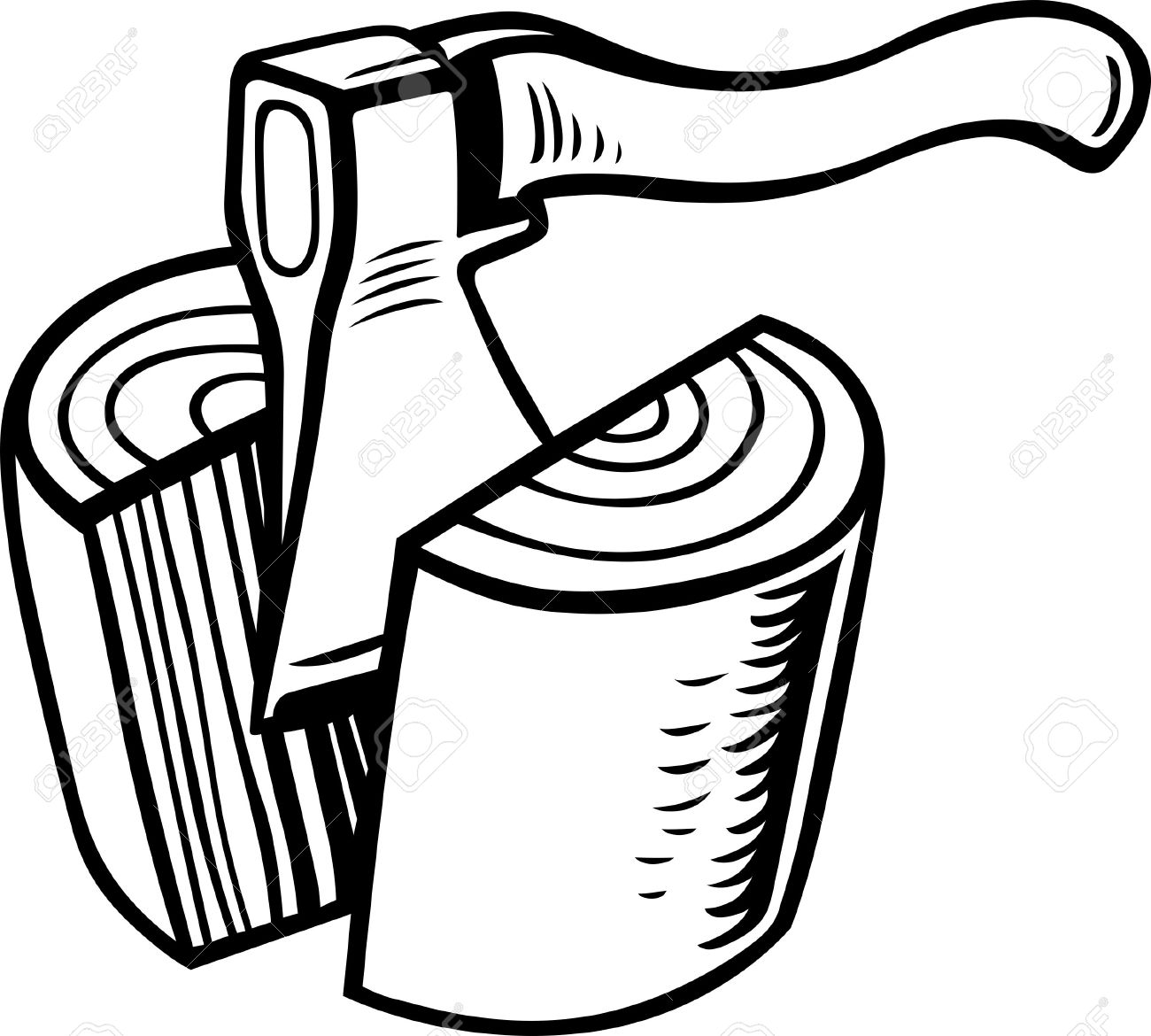 Chop clipart black and white.