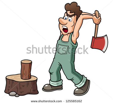 Man Chopping Wood Stock Photos, Royalty.