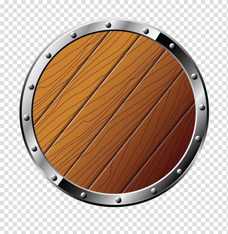 Round silver frame , Shield , Round Wooden Shield Free to pull the.