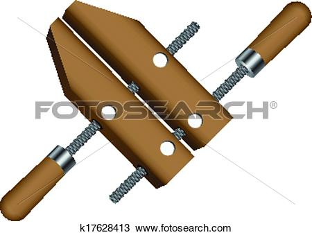 Clipart of Screws Wood Clamp k17628413.