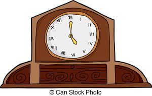 Mantle clock Clip Art Vector and Illustration. 11 Mantle clock.