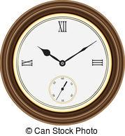 Vector Clip Art of Wall Clock.