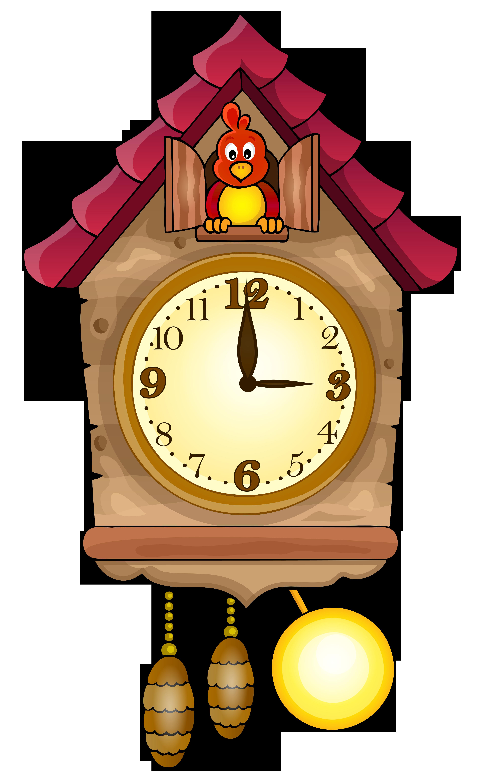 Cute Cuckoo Clock PNG Clip Art.