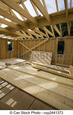 Stock Photos of part of a wood house construction csp2441373.