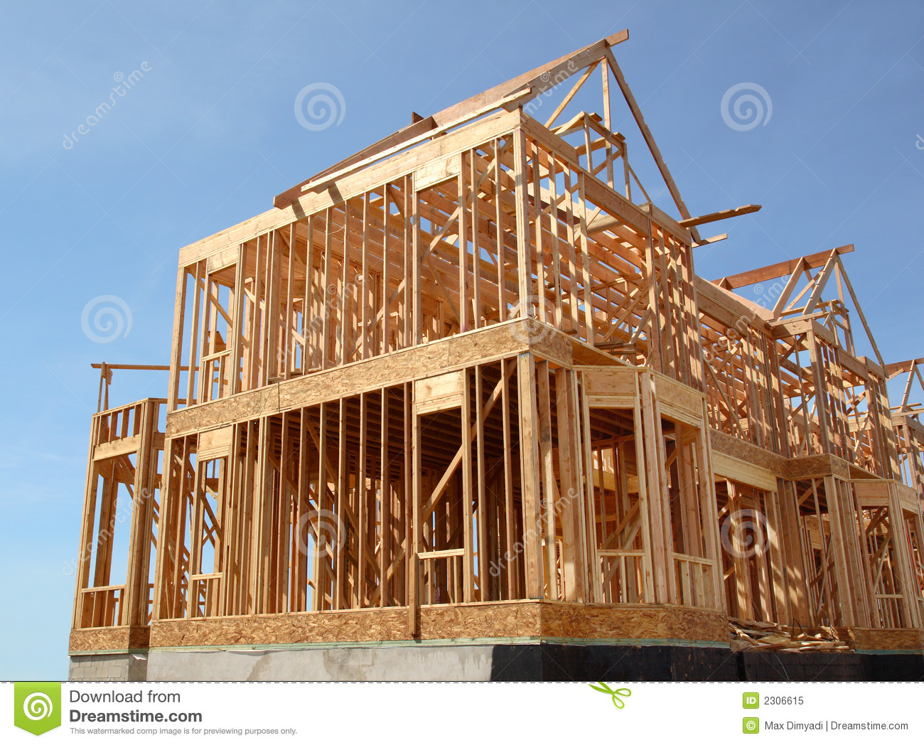 House Under Construction Royalty Free Stock Photo.