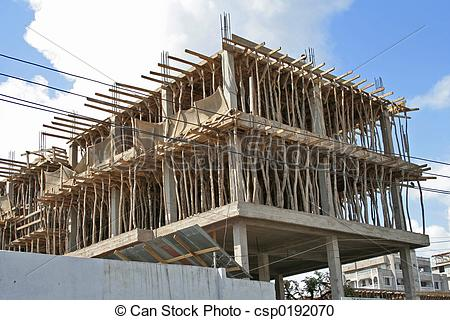 Stock Photography of African construction.