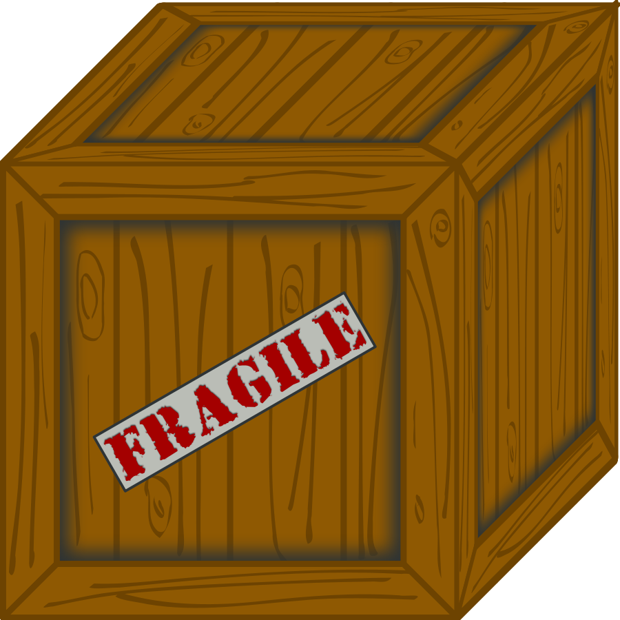 Wooden box clipart.