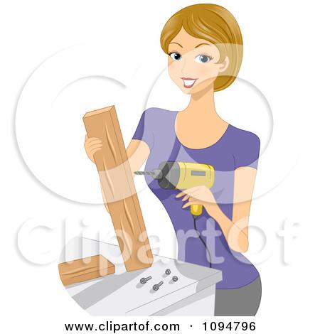 Wood crafts kids clipart.
