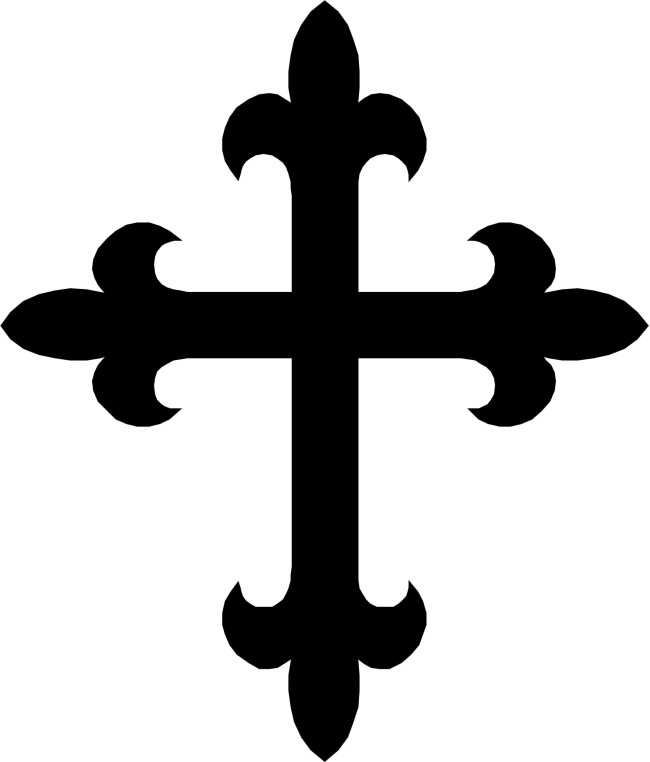 Image of Black And White Cross Clip Art #4801, Wooden Cross Clip.