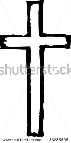 Wooden Cross Drawing.