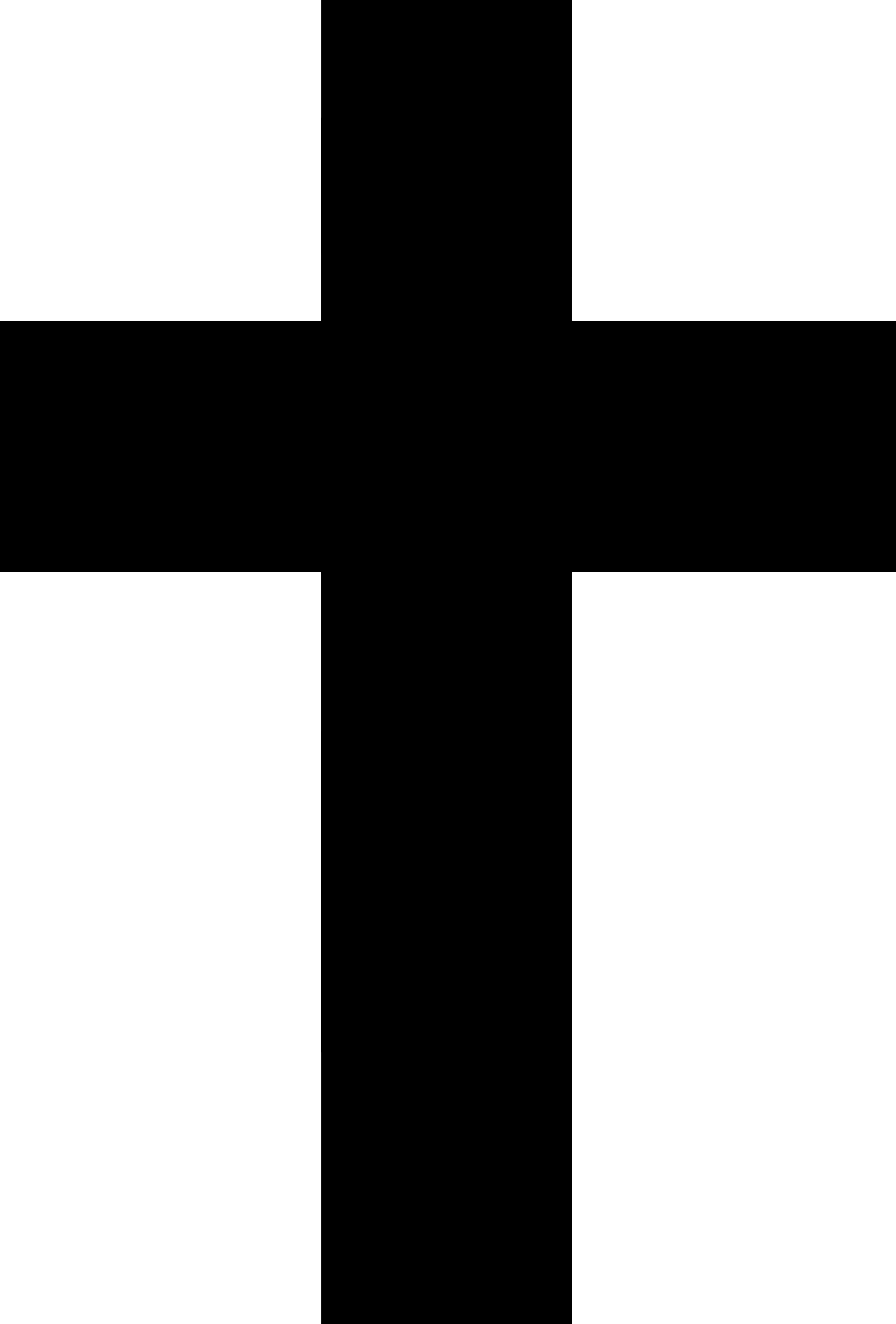 Cross silhouette clip art.