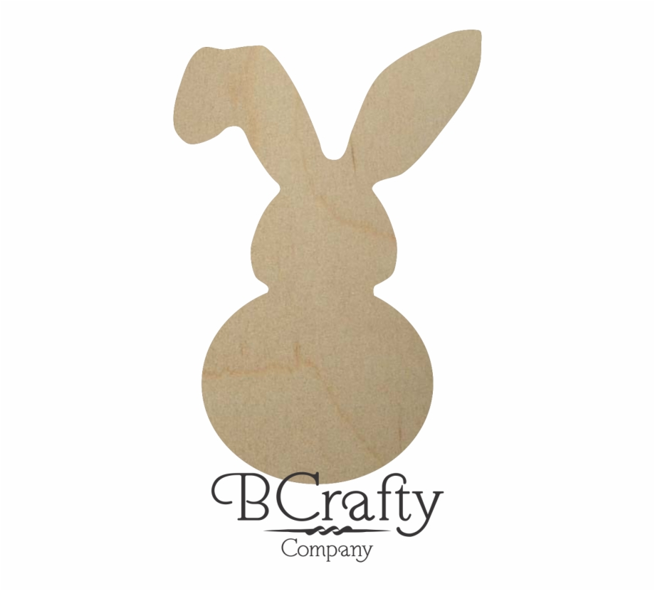 Unfinished Wooden Bunny Cutout Domestic Rabbit.