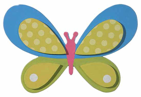 Finished Wooden Butterfly Cutout.