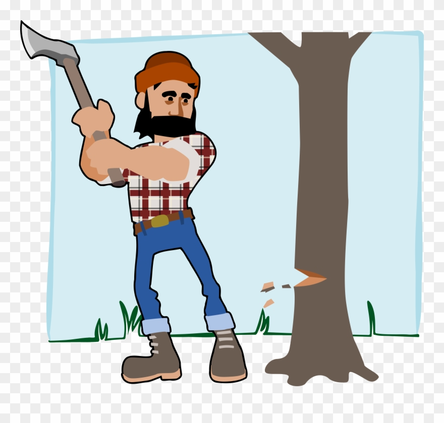 Lumberjack Axe Wood Free Commercial Clipart.