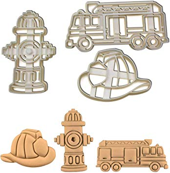 Amazon.com: SET of 3 Fireman Themed cookie cutters.
