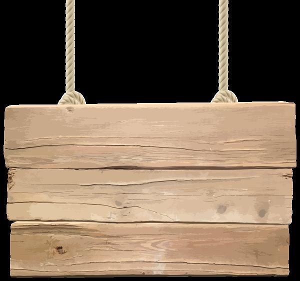 Wooden Signboard Transparent PNG Clip Art Image.