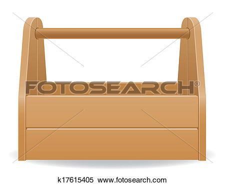 Stock Illustration of wooden tool box illustration k17615405.