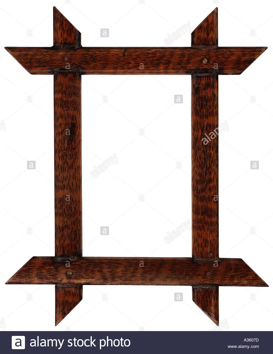 Vertical Rectangular Decorative Wooden Frame Stock Photos.