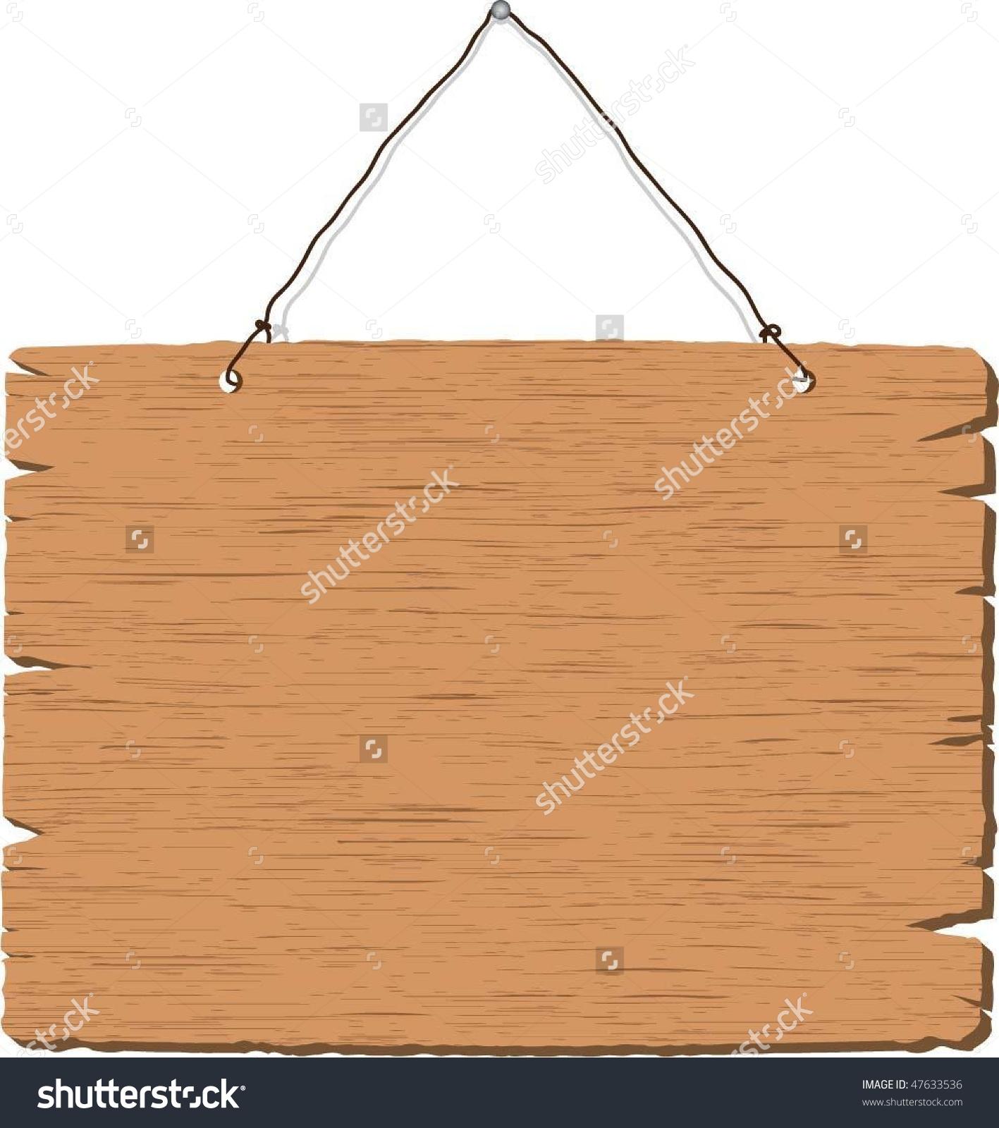 Hanging Rope Stock Vectors Vector Clip Art Shutterstock Wooden.