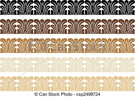 EPS Vector of Decorative Wood Border vector illustration image.