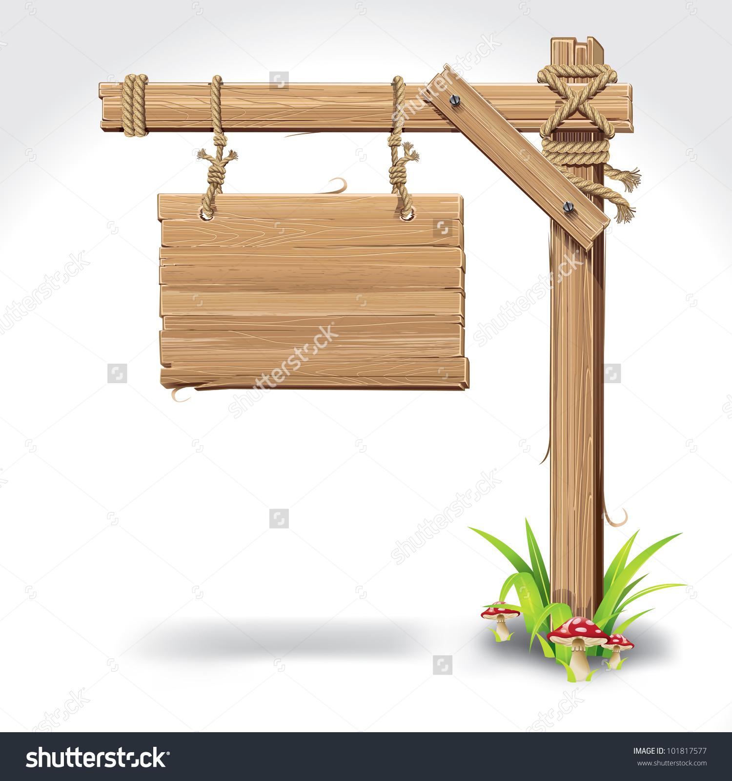Hanging Rope Stock Vectors Vector Clip Art Shutterstock Wooden