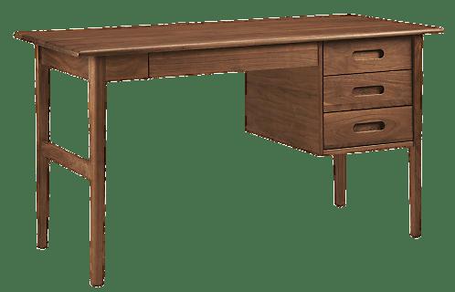 Modern Wooden Desk transparent PNG.