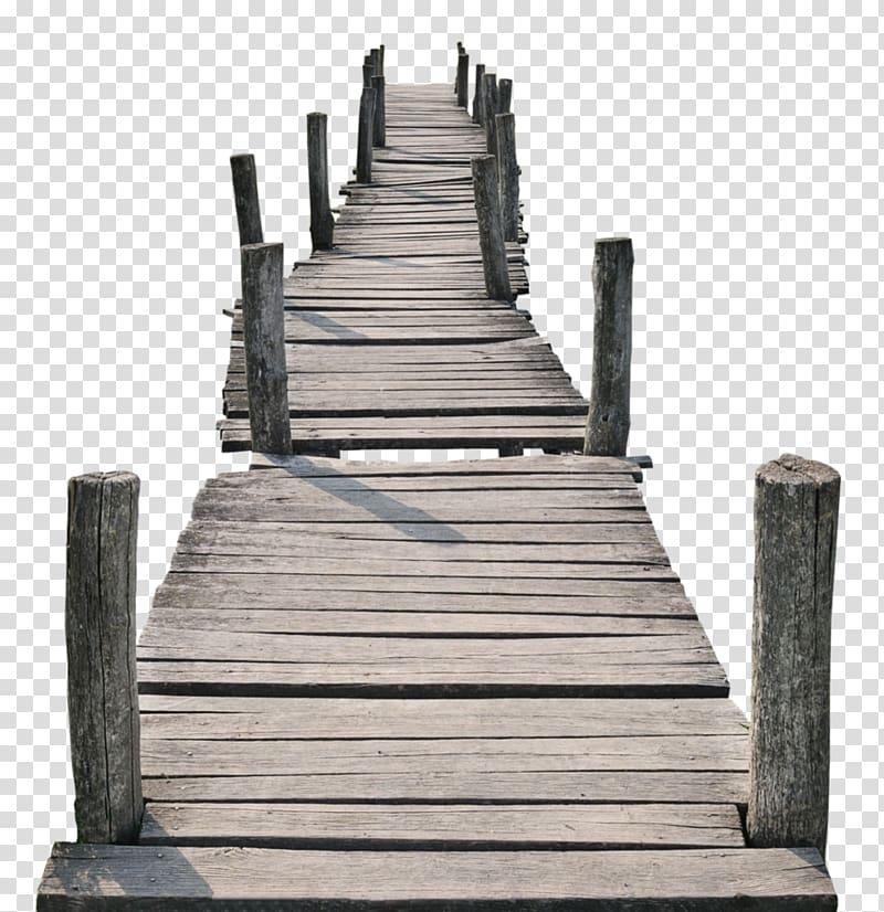 Gray wooden dock illustration, Footbridge Plank, wood.