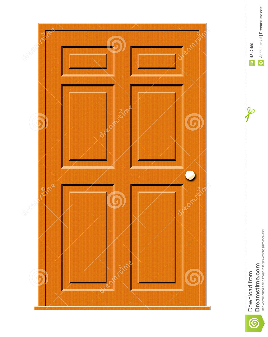 Wood door clipart.