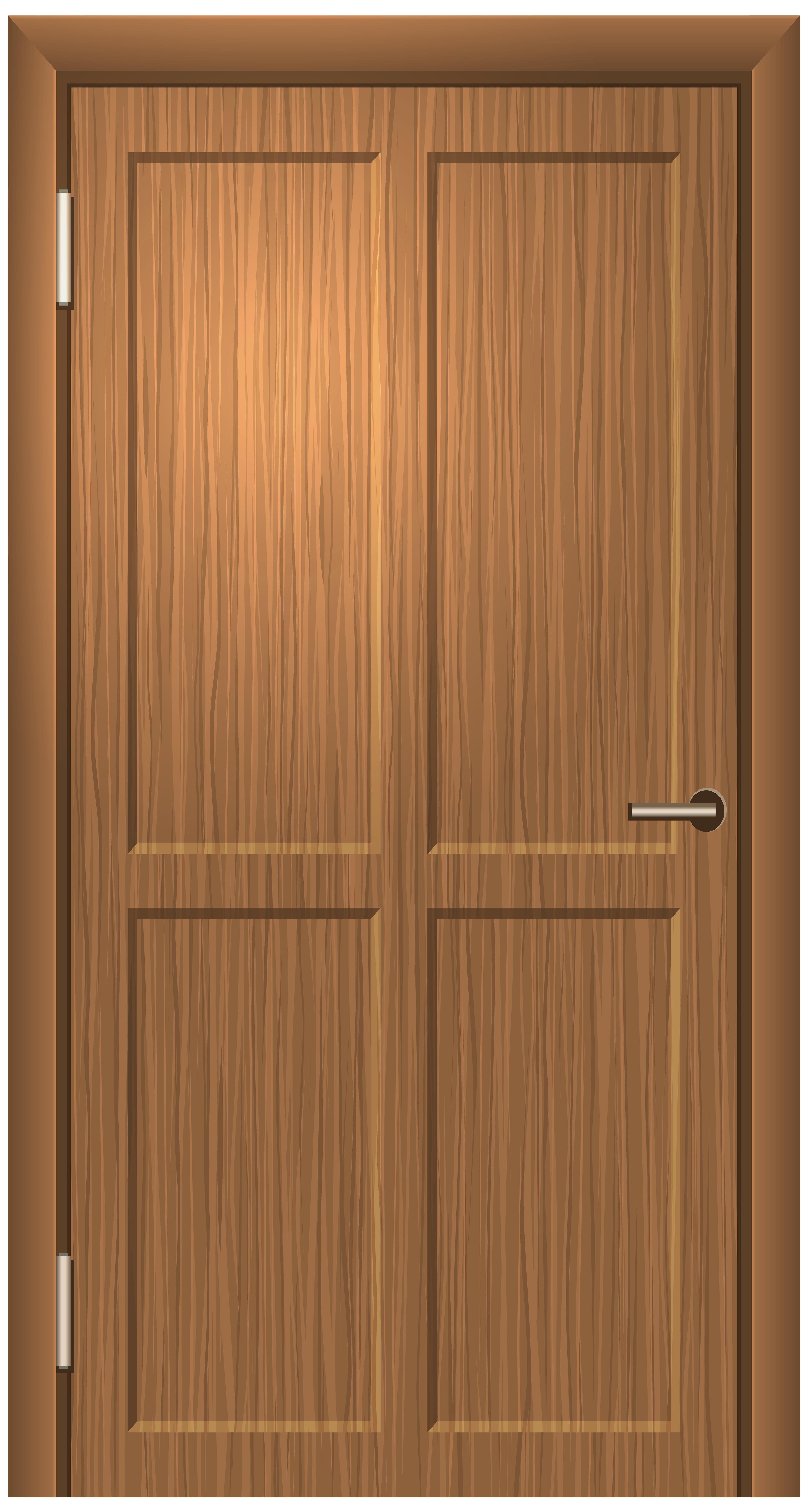 Wooden Door PNG Clip Art.