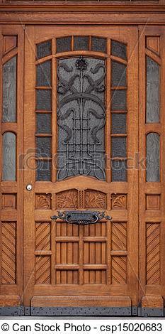 Pictures of Wooden front door of a home. Old Wooden Door.