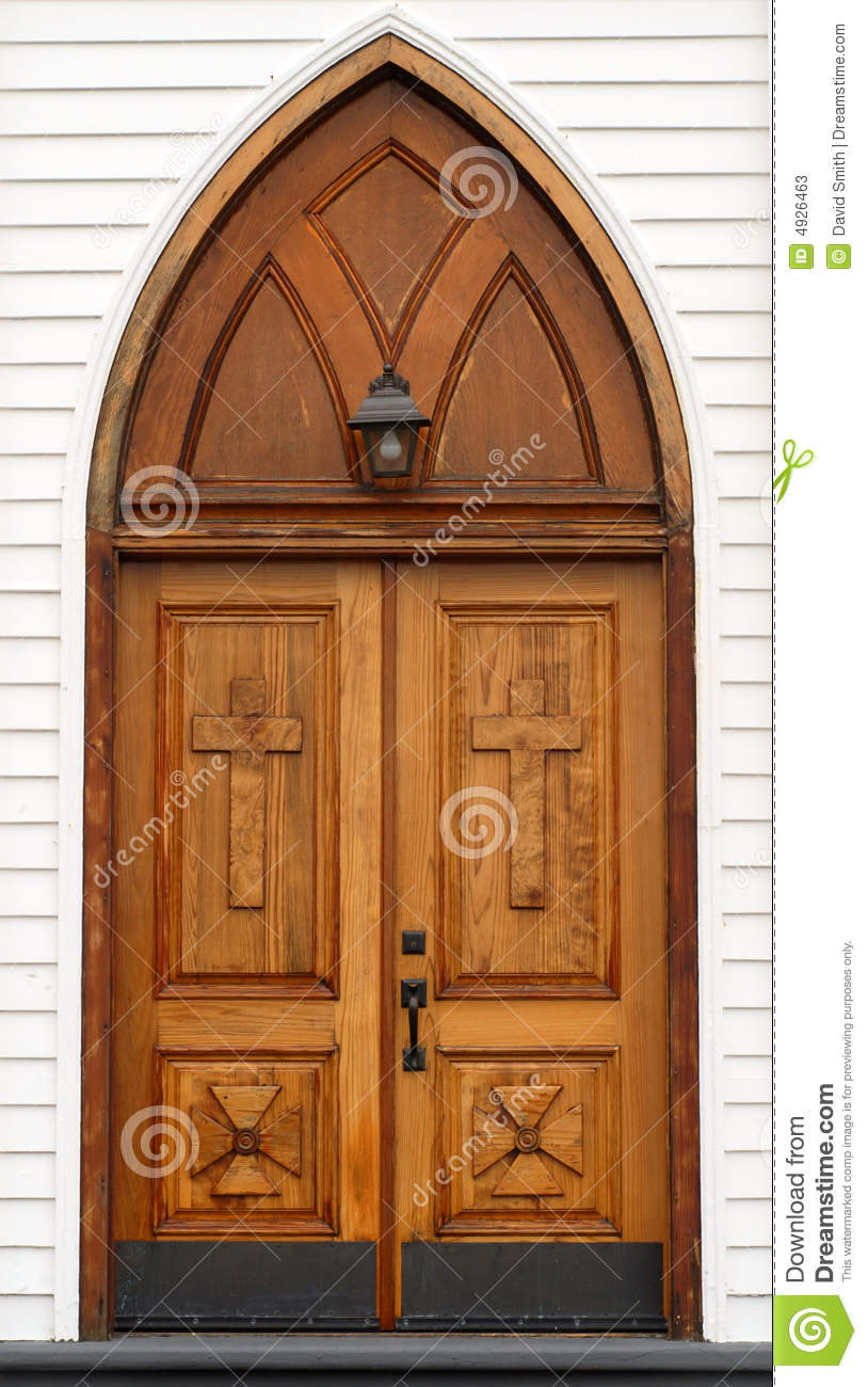 Wood Church Doors Clipart.