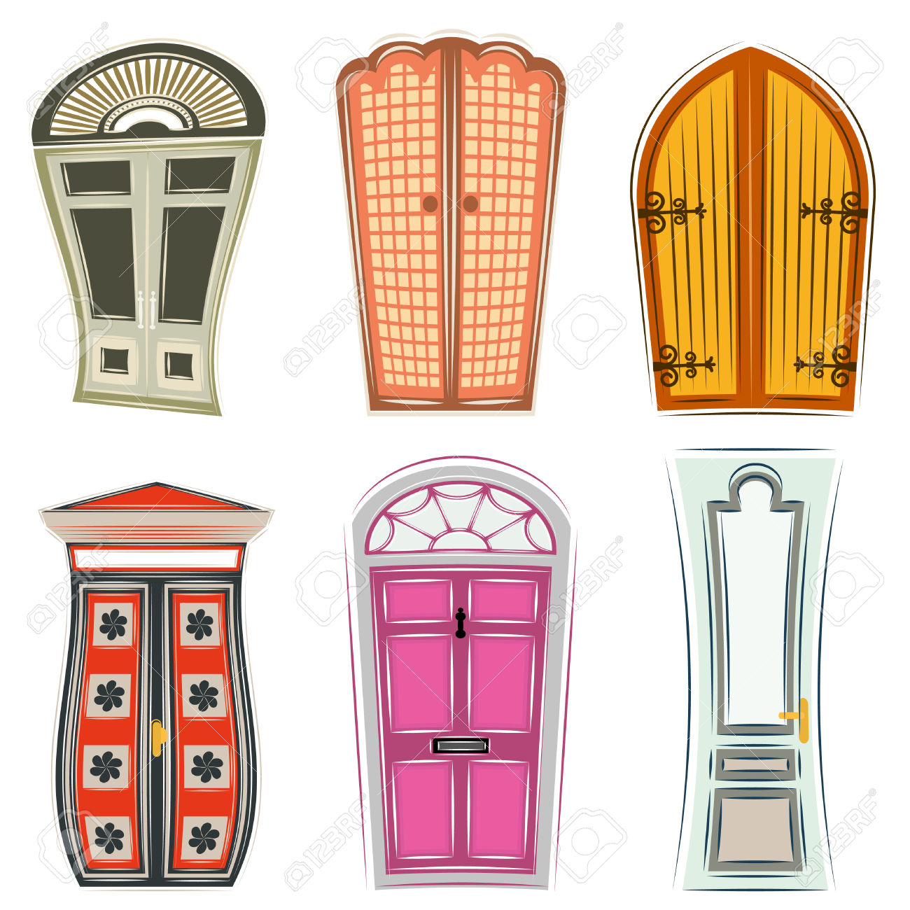 Door Royalty Free Cliparts, Vectors, And Stock Illustration. Image.