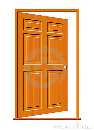 Wooden door clipart.