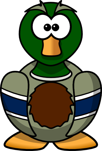 Cartoon Duck Clipart.