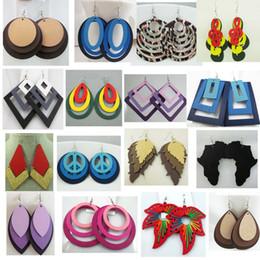 Discount Wholesale Wood Earrings.