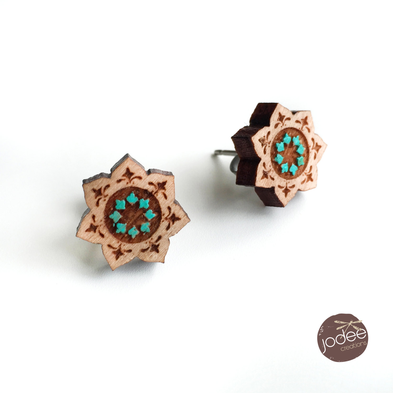 Mandala earrings.
