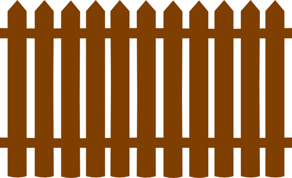 Wood Fence Clipart.