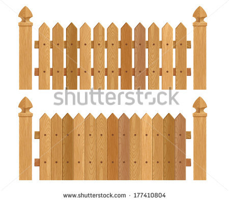 Wood Fence Gate Clipart.
