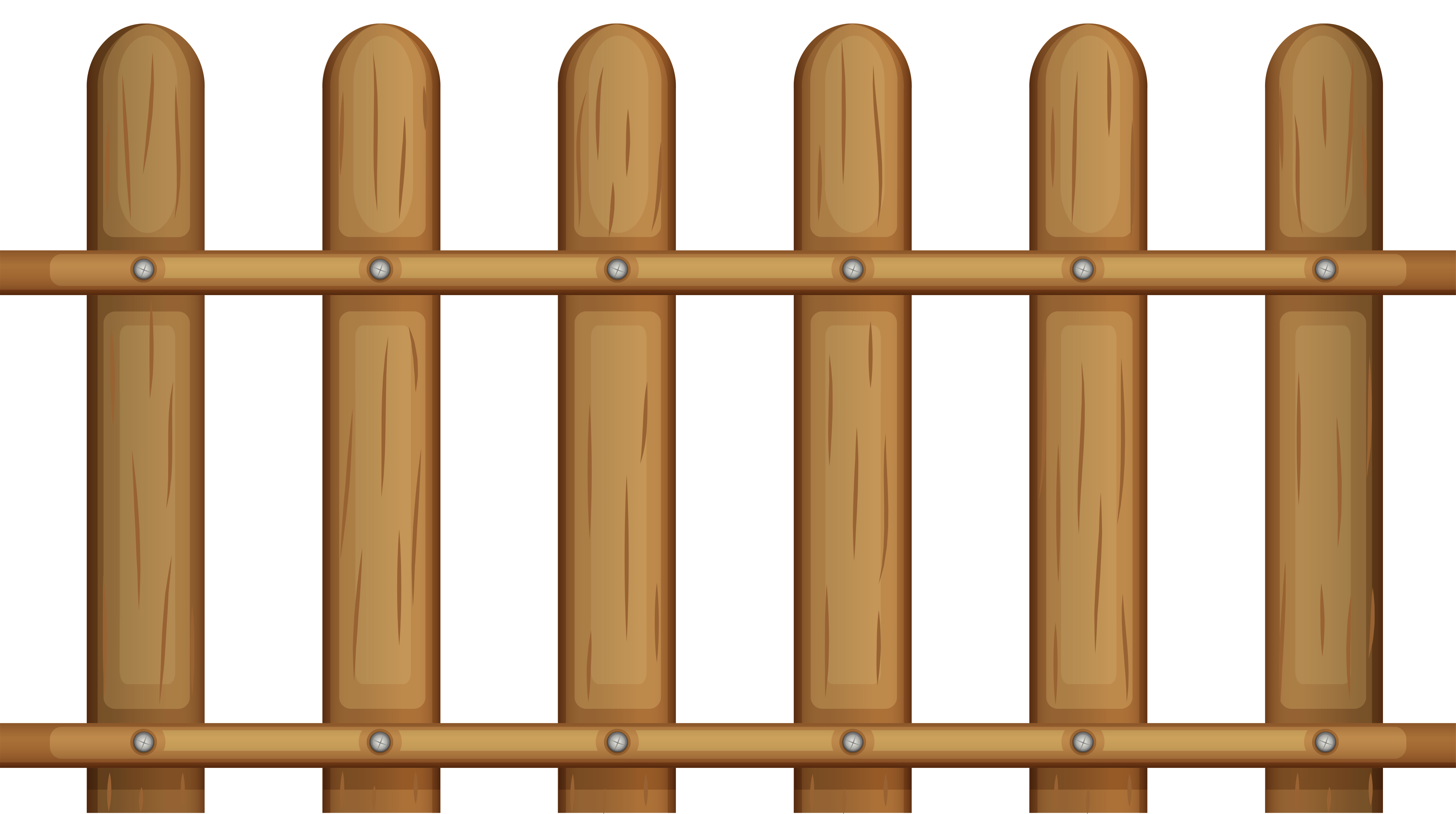 Transparent Wooden Fence PNG Clipart.