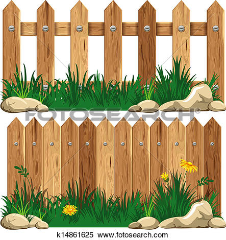 Wooden fence Clip Art Illustrations. 6,350 wooden fence clipart.