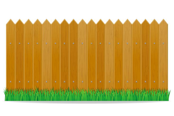wooden fence vector illustration.