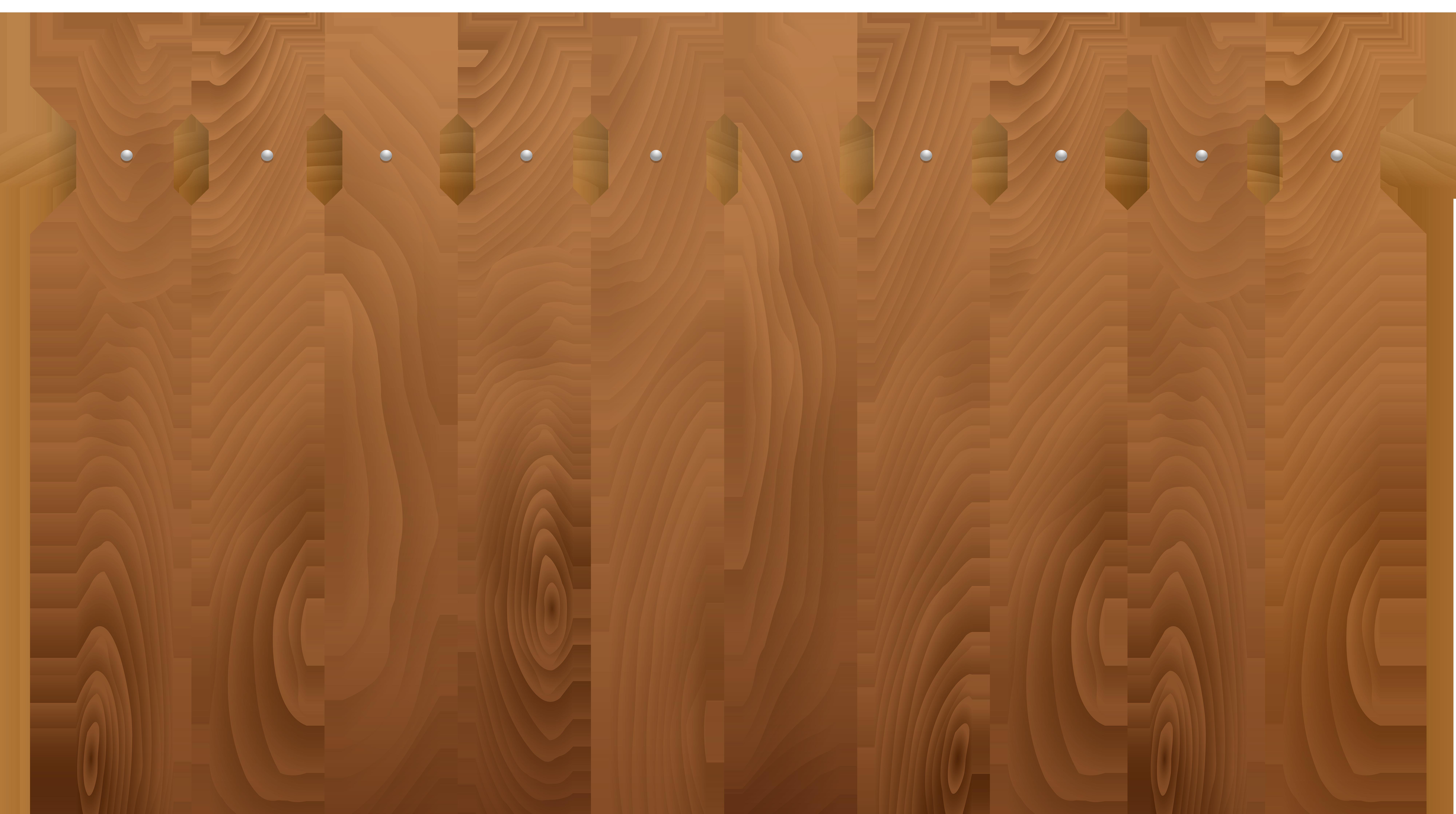 Wooden Fence Transparent Clip Art PNG Image.