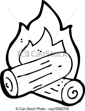 Clipart wood fire.