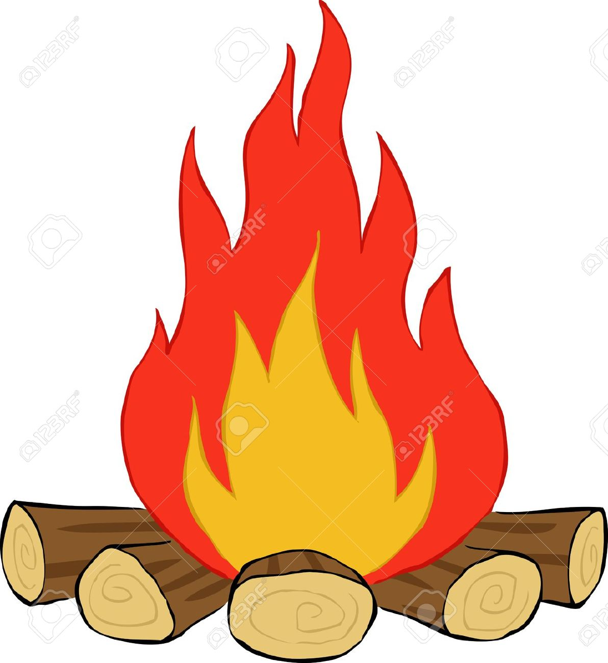 Fire Cartoon Image.
