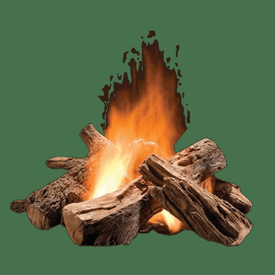 Log Fire transparent background image.