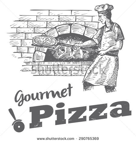 Wood fired pizzas clipart #20
